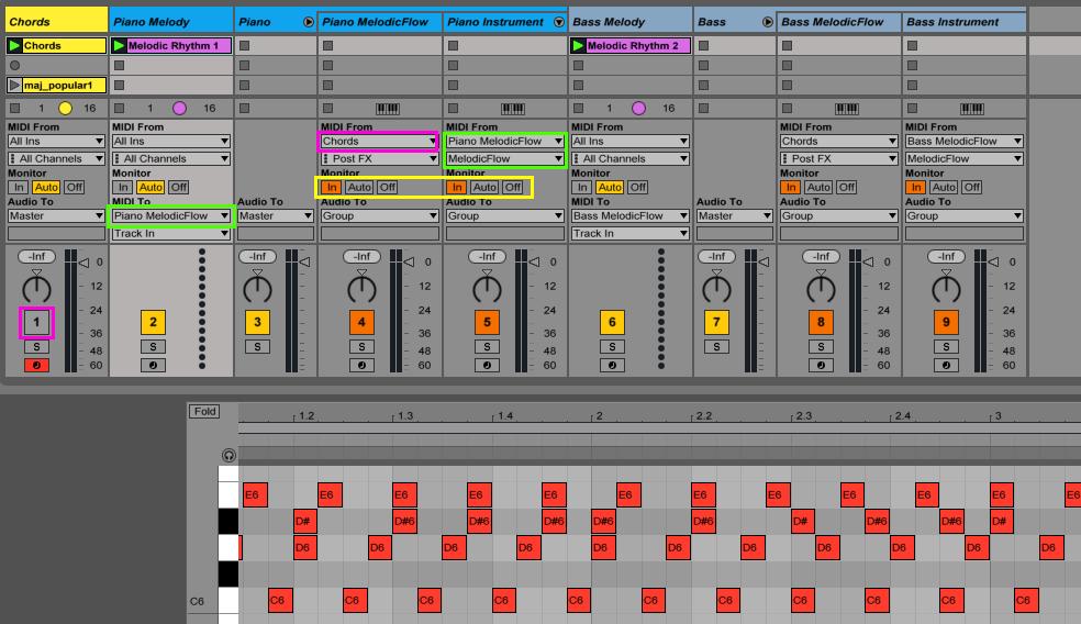 Ableton chord master track